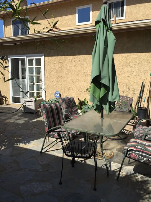 Sit out on the patio enjoy the California sun