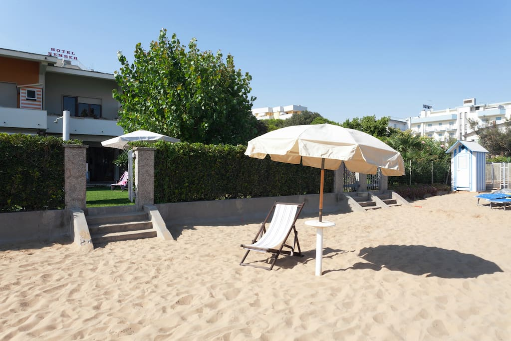 Your private beach is just outside your private garden, ideal for keeping an eye on the kids.