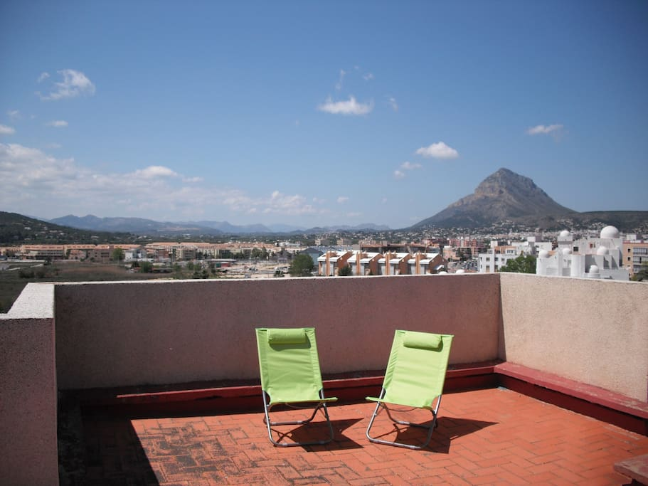 View of Montgo Mountain from Communal Roof Terrace