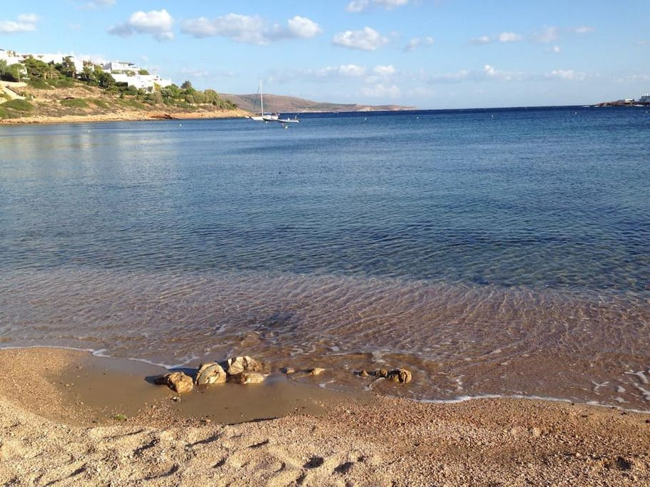 The beach near to our house