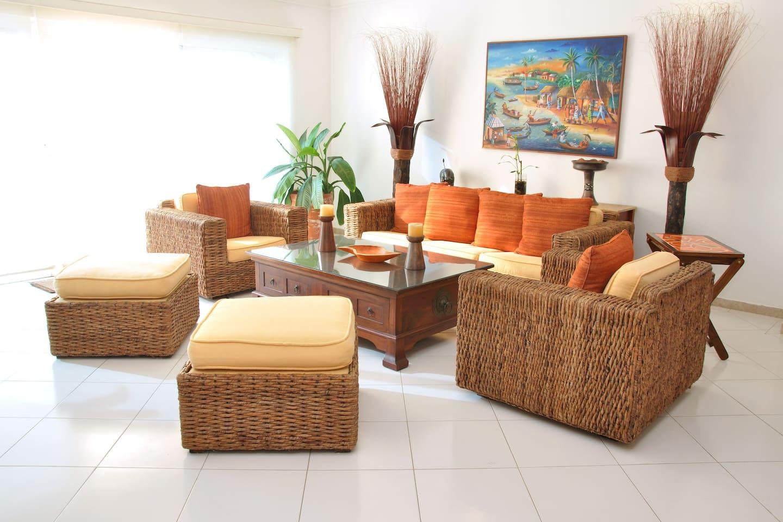 Tropical Beachfront apartment
