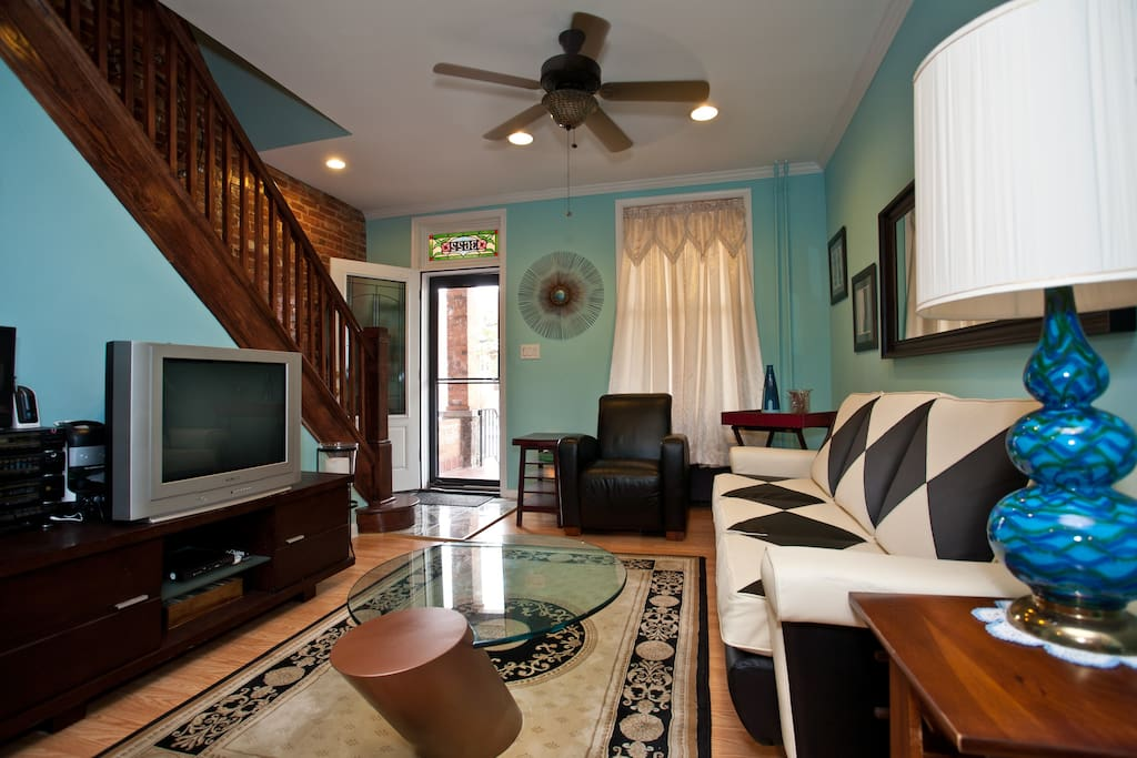 Living Room in a Typical Baltimore Rowhome