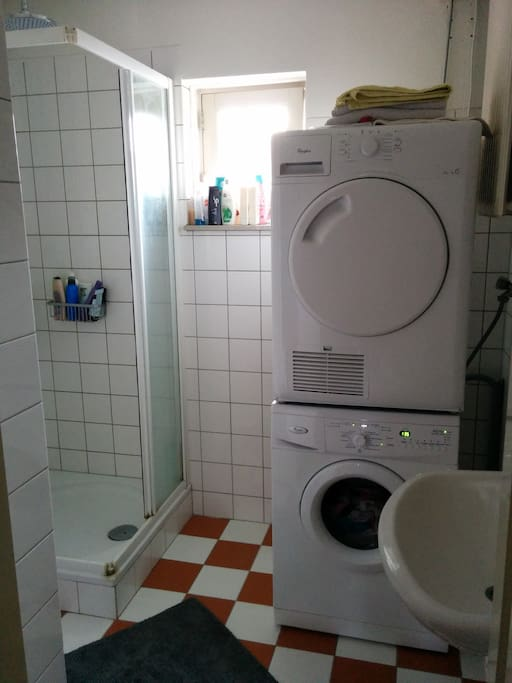 Shared bathroom incl. use of washer/dryer