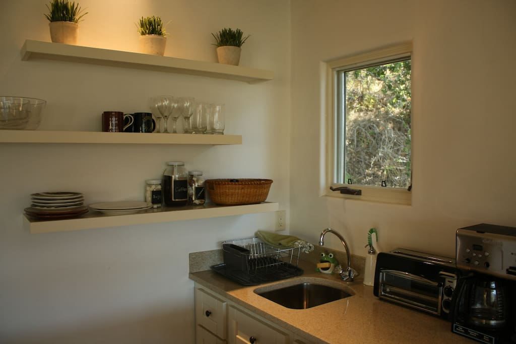 Kitchenette area - stocked with coffee, sugar & creamer for you!