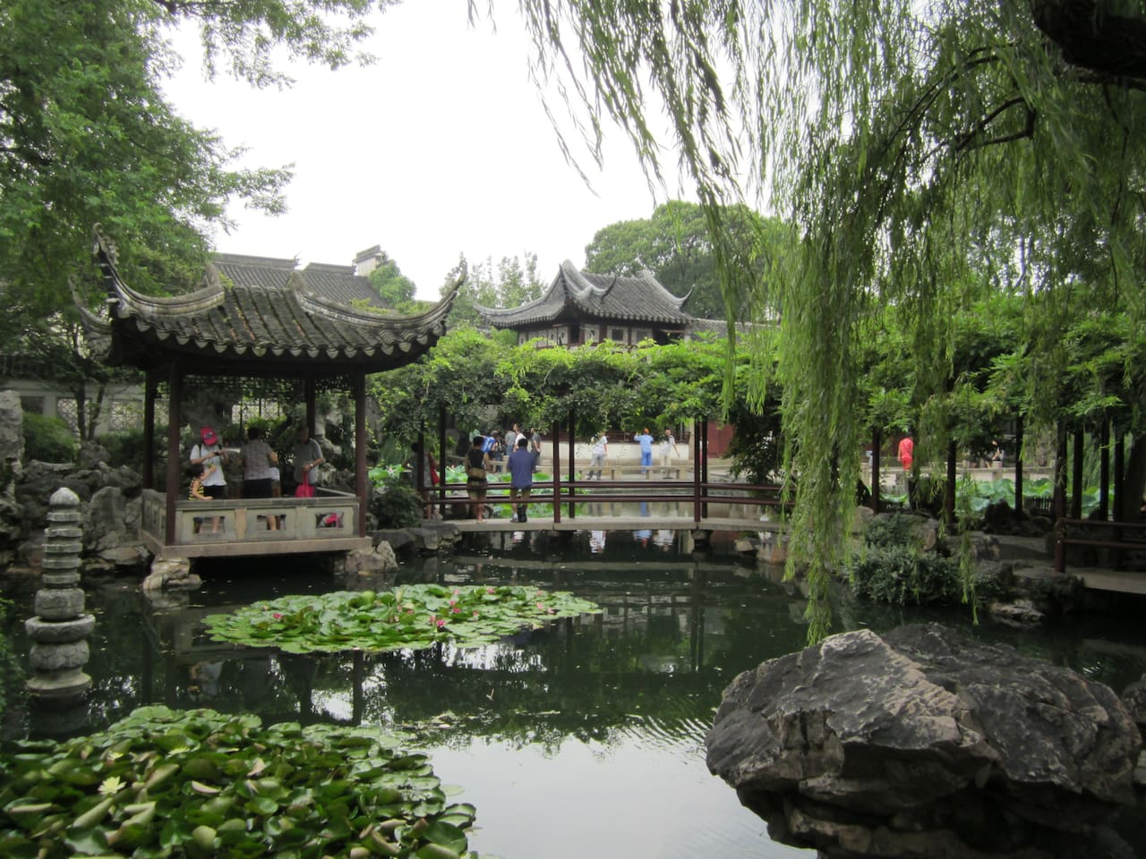 Lingering Garden--one of the four famous gardens in China, about 20 minutes walk or 5 minutes bus from my house