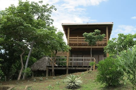 Cabane en bois au bord de la mer - House