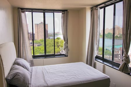 Enjoy gorgeous East River Views and the convenience of being in walking distance to Central park. Our apartment is spacious, newly renovated, and comes with everything you could need. In close proximity to the 6 train, near stores and shopping areas