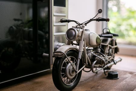 John Jillian's Apartment Motorcycle - Loft
