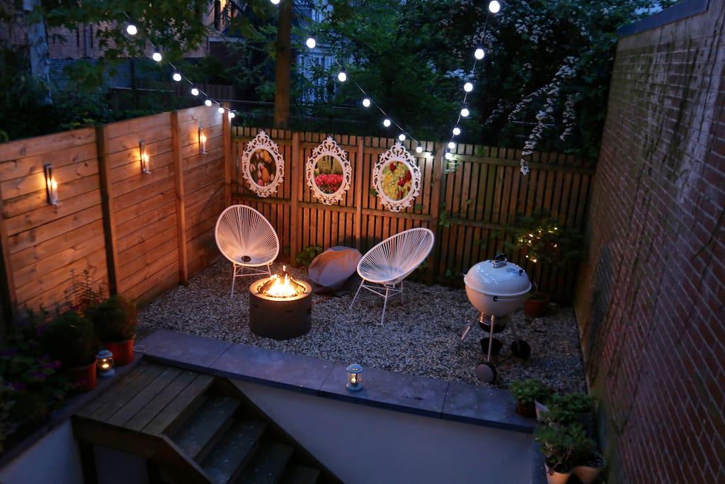 Back garden - now includes an outdoor sofa!