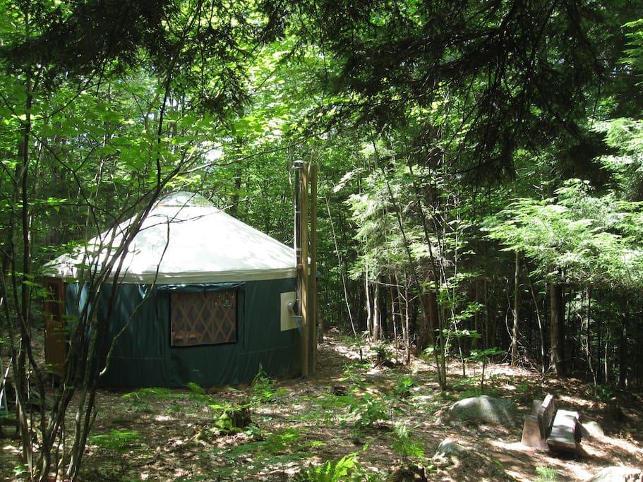 Maine Mountain Brook Yurt Retreat