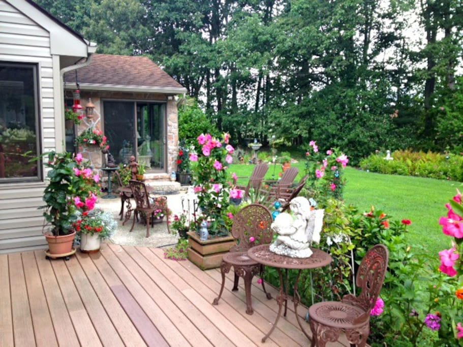 Beautiful Gardens With Lots of Seating!
