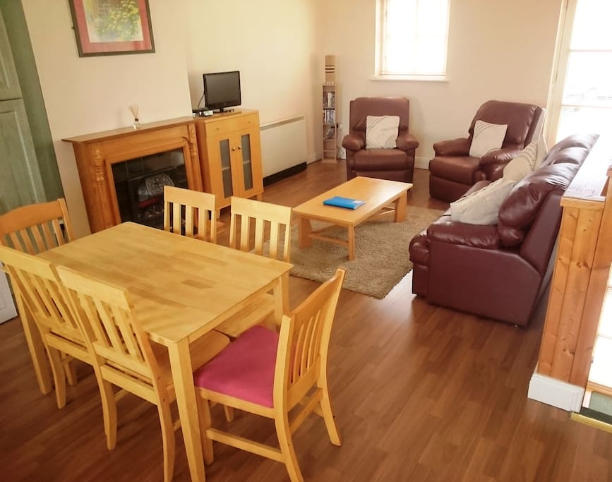 Spacious living room  & Dining Area