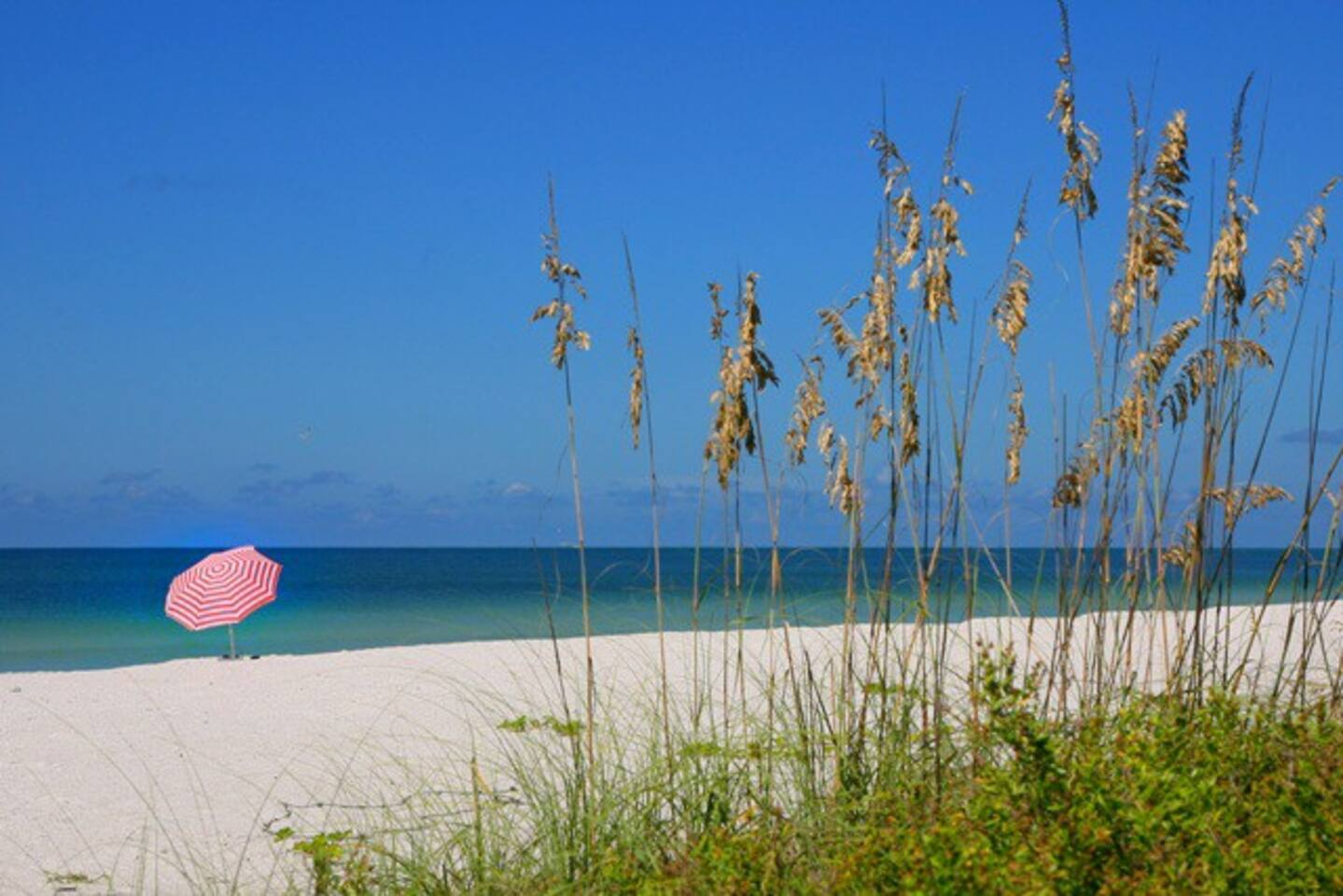 Just a 3 minute walk from your cottage/villa door - Crescent Beach on Siesta Key.
