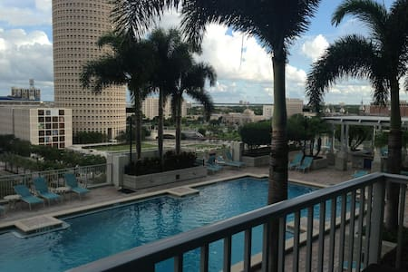 Beautiful Property, Pool, Gym.  Downtown Tampa.  Walking Distance to Amalie Arena.   Tickets to Friday June 5th Available separately.