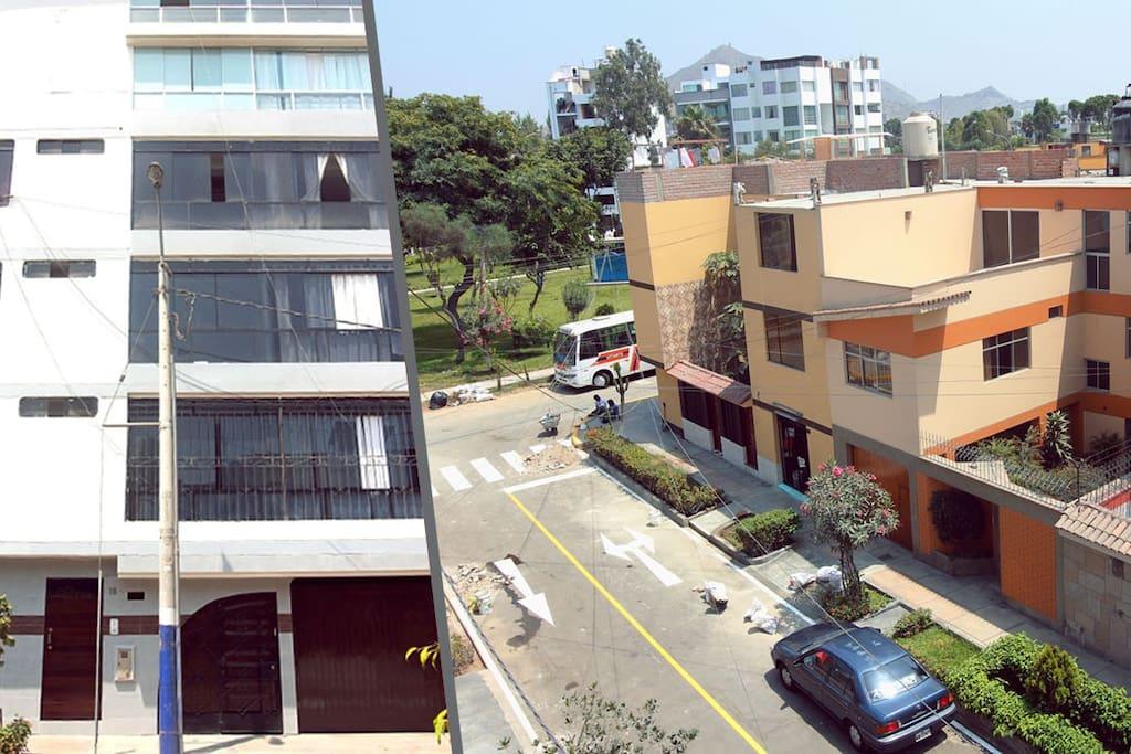 building view and neighborhood
