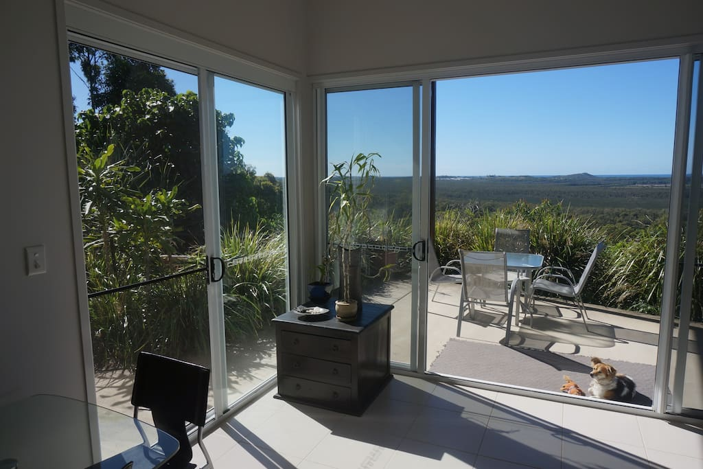 The view from the open living area.