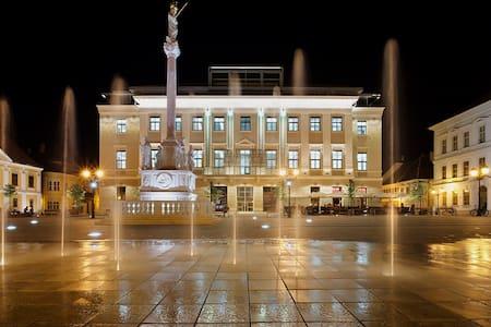is centrally located in the heart of Győr. Elegant, clean