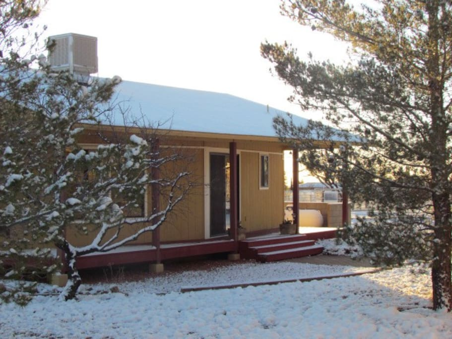 Cottage with rare January Snow