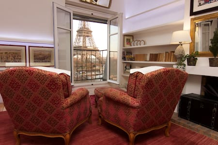 View on Eiffel Tower and Paris - Appartamento