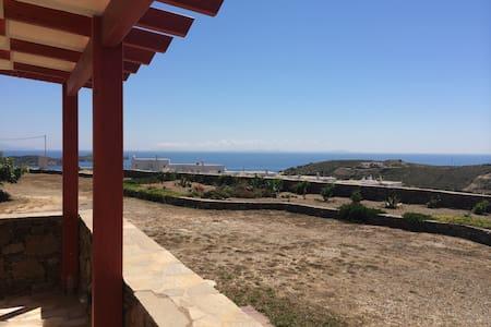 Scenic sea view aegean home - Syros - Hus