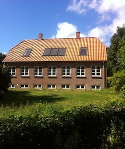 House in the woods. - Huis