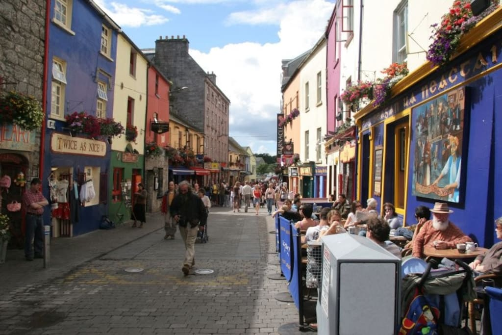 Galway's pretty and vibrant streets