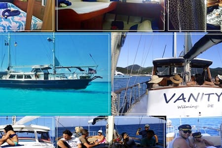 Bed&Breakfast Yacht (check in/out in St. Martin) - Lower South Hill - Vaixell