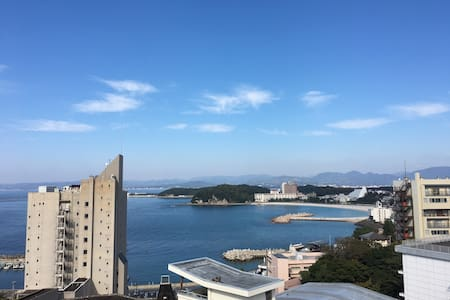 Ocean view, hot spring! 海側の景色、温泉付き - Nishimuro District - Appartement