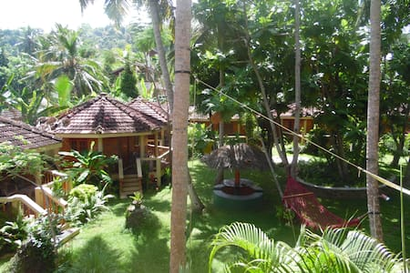 Large cabana in the tropical garden