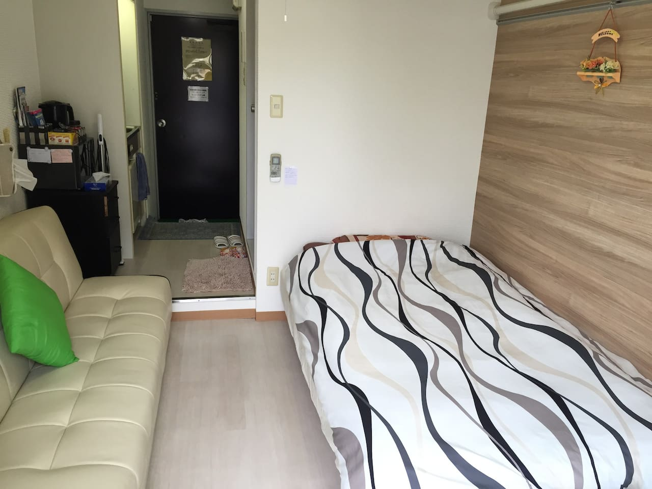 three quarter bed and sofa bed,