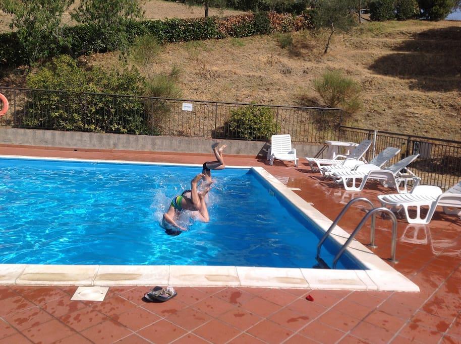 Appartamento con piscina a Paciano