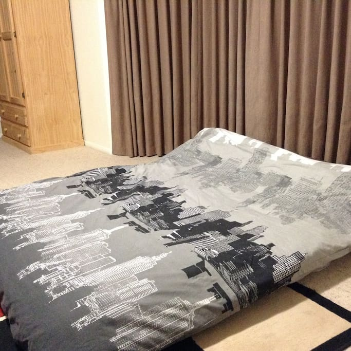 Can be put together for a king size bed or split for two singles.