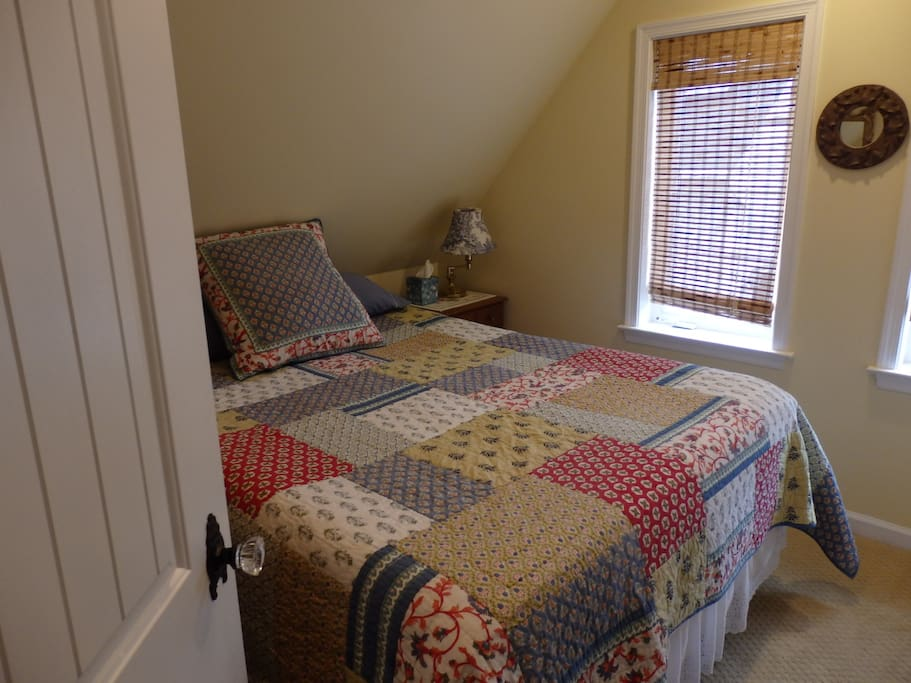 Stay!  Front bedroom with Queen-sized bed with FIRM gel memory foam mattress!