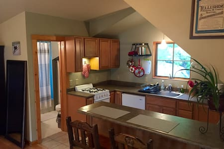 Everything you need 4 a weekend getaway or extended stay. Private Studio and parking. 4 Blocks from historic main street. California King Bed, TV/Wireless Internet, Kitchen, Washer&Dryer. Please read the reviews, ask questions and enjoy Durango!