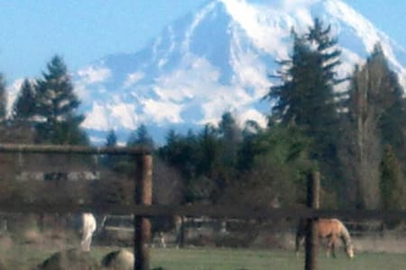 Rural privacy, Rainier view, horse/bicycle friendl - Yelm - Camping-car/caravane