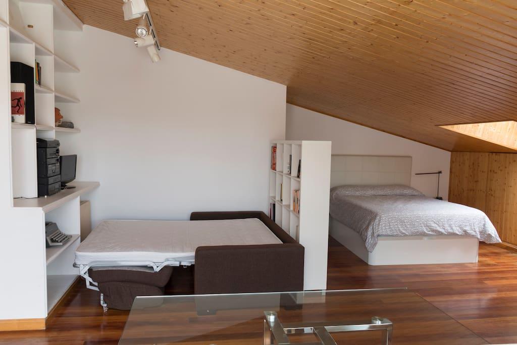 Habitación+terraza en ático dúplex!
