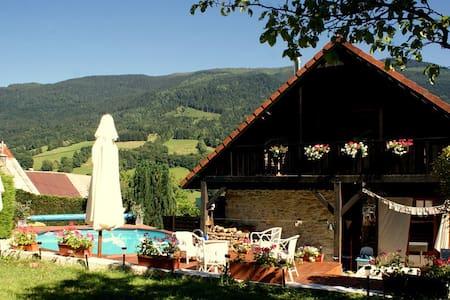 Chambre avec jardin & piscine au coeur des Alpes - Guesthouse