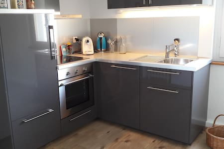 Liebevoll restaurierte Wohnung mit Rosengarten - Visp - Apartmen