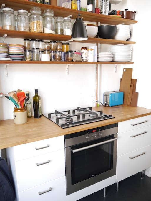 cozy kitchen, easy to find what ever you need in.
