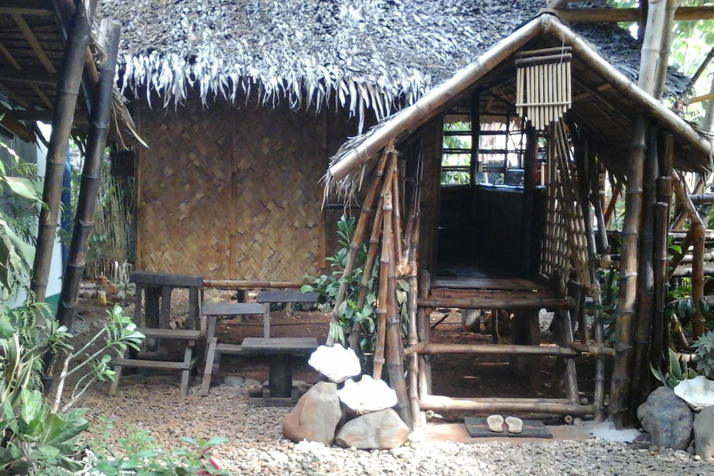 "Nipa Hut ""Bahay Kubo"" traditional hut of Filipino family"