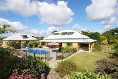 Pool-side privacy in lovely gardens