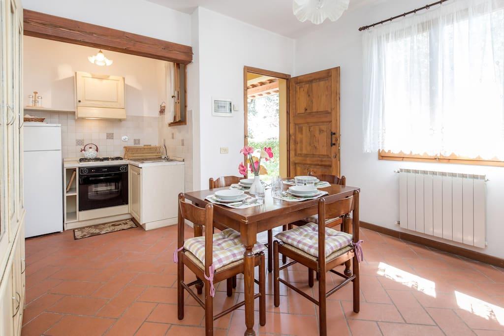 Poggetto dining area (example)