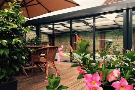 Maison art déco centre ville avec piscine chauffée - Dole - Villa