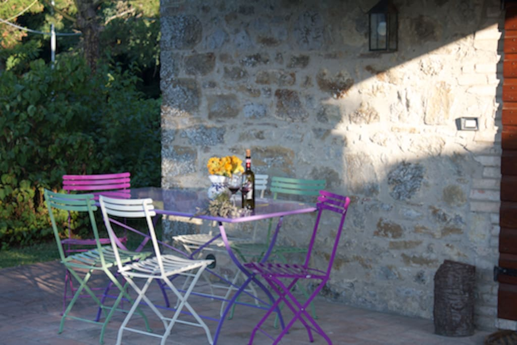 Patio, Val d'Orcia, Celle sul Rigo
