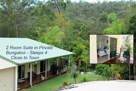 Private Forest Bungalow Suite - 2 Rooms Sleeps 4 - Bonogin - Bungalow