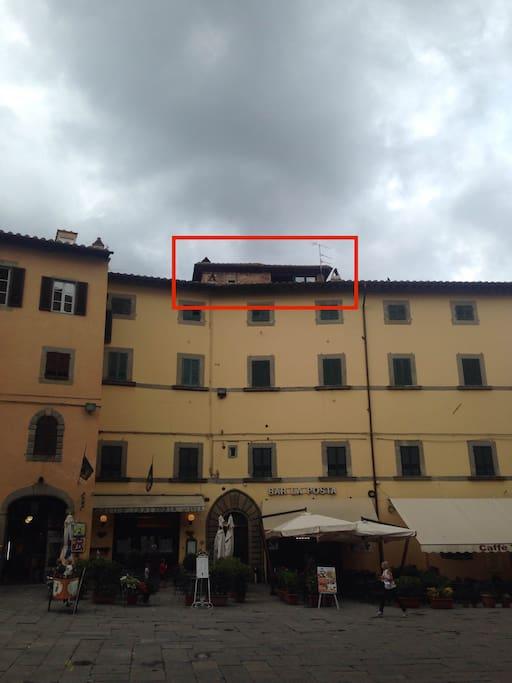 La Torretta vista da Piazza Signorelli (Berrettini Tower's view from Signorelli square)