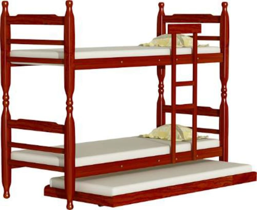 bunkbed with auxiliairy bed