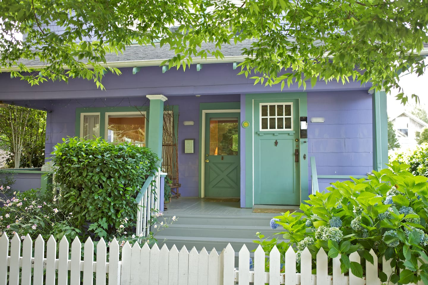 Cutest house on the block, as long as you like periwinkle