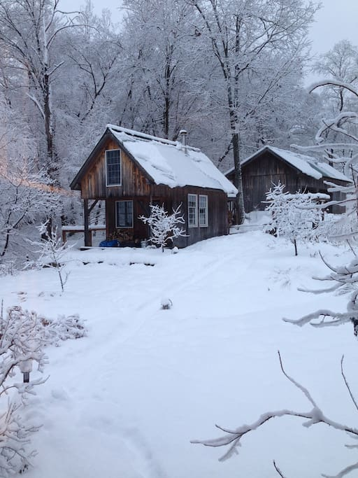 Solheim cabin in winter