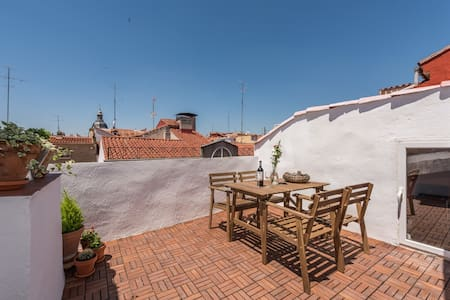 Sunny Penthouse & terrace in Center - Madrid - Apartment